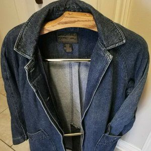 Eddie Bauer Denim Jean Jacket Barn Field Coat